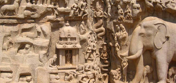 Carving at Mamallapuram